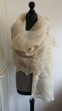 Omslagdoek Drops Alpaca Brushed Silk