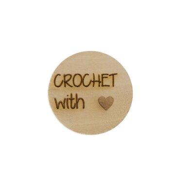 Houten knoop 2cm Crochet with love