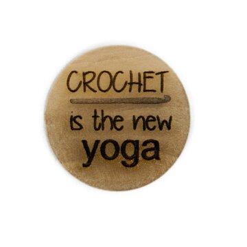Houten knoop 2.5cm Crochet is the new YOGA