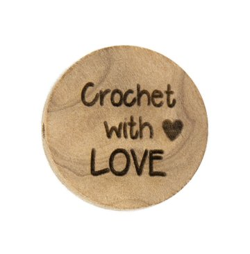 Houten knoop 2.5cm Crochet with love