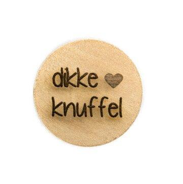 Houten knoop 2.5cm Dikke knuffel
