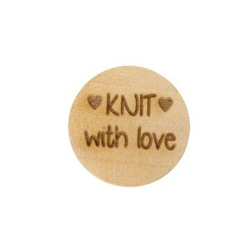 Houten knoop 2cm Knit with love