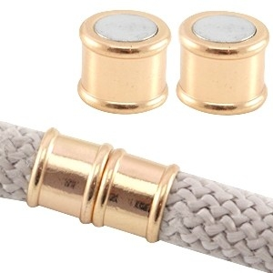 Magneetsluiting rond 10mm light rose gold
