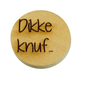 Houten knoop 2cm Dikke knuf