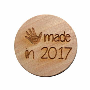 Houten knoop 3cm Handmade in 2017