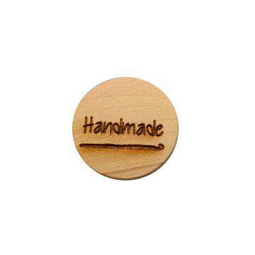 Houten knoop 2 cm Handmade