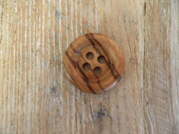 Houten knoop 2,5 cm