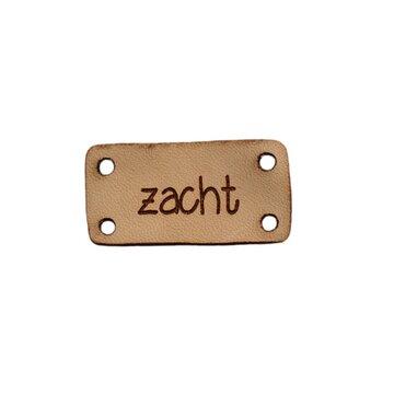 Leren label 3x1,5 cm Zacht