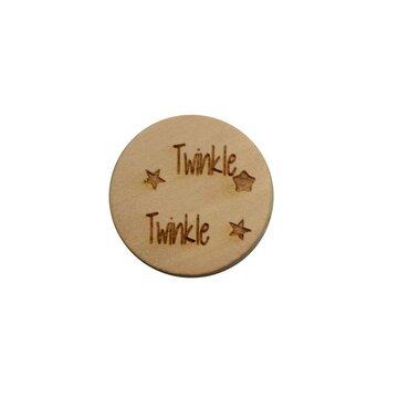 Houten knoop 2 cm Twinkle Twinkle