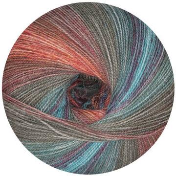 Starwool Lace Color oranje/blauw/groen 104