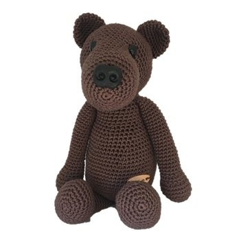Crochet Miniature Jointed Bear Barley the Bear ~ A Gift to a Gnome ... | 351x351