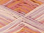 Cotton Print lila-oranje