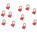 Stekenmarkeerders hartjes