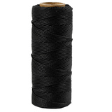 Bamboekoord 1mm, zwart