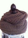 Grof gehaakte sjaal/hoodie