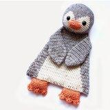 Gehaakte lappen pinguin