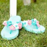 Patroon gehaakte bloemetjes voor op je slippers Haken&sfeer_