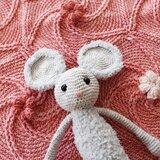 Haakpakket babydekentje Bloem en Beschuit met muis