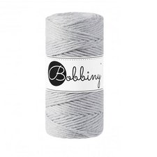 Bobbiny Macrame 3mm light grey