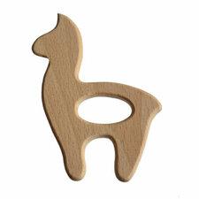 Bijtring hout alpaca