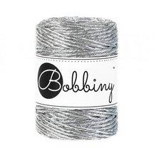 Bobbiny Macrame 3mm metalic silver