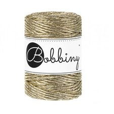 Bobbiny Macrame 3mm metalic gold