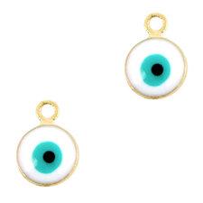 Bedel Boze oog turquoise 6mm