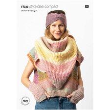 Rico Strickidee 1023 omslagdoek, hoofdband en polswarmers