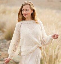 Breipakket trui Brushed alpaca silk