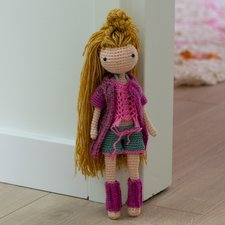 Haakpakket Amilishly festival outfit roze voor Elsa