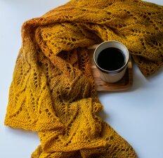 Breipakket sjaal Bazar
