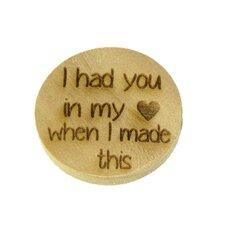Houten knoop 3cm I had you in my heart