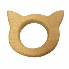 Bijtring hout kat