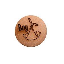Houten knoop 2 cm Boy