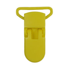 Speenclip kunststof geel