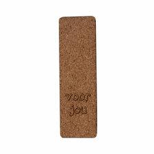Kurk label 2,5 x 8 cm Voor jou