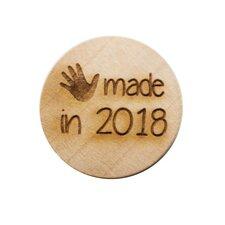 Houten knoop 3cm Handmade in 2018