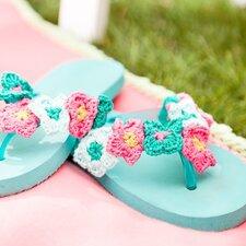 Patroon gehaakte bloemetjes voor op je slippers Haken&sfeer