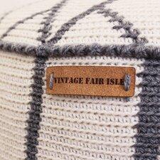 Kurk label 2,5 x 8 cm Vintage Fair Isle liggend