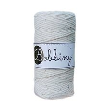 Bobbiny Macrame 3mm rainbow dust