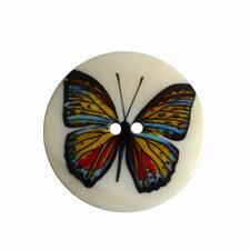 Parelmoer knoop met vlinder 4cm
