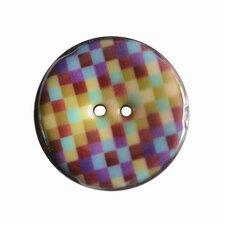 Houten knoop met ruitprint mix 4cm