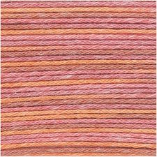 Cotton Soft Print Rico oranje/roze 025