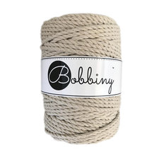 Bobbiny Triple Twist 5mm beige