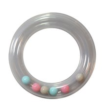 Rammelring bijtring 80mm, roze, lichtblauw,grijs