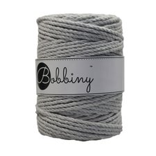 Bobbiny Triple Twist 5mm light grey