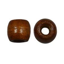 Houten kraal bruin 12 mm met groot gat