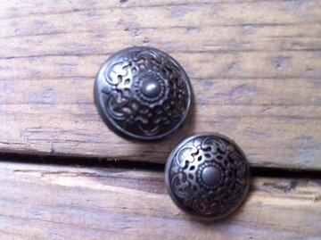 Metalen knoopje met print 1,5cm