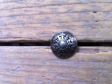 Metalen knoopje met print 2,5cm