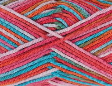Creative cotton print rood/blauw mix 004